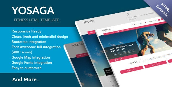 Yosaga HTML Template  - Corporate Site Templates