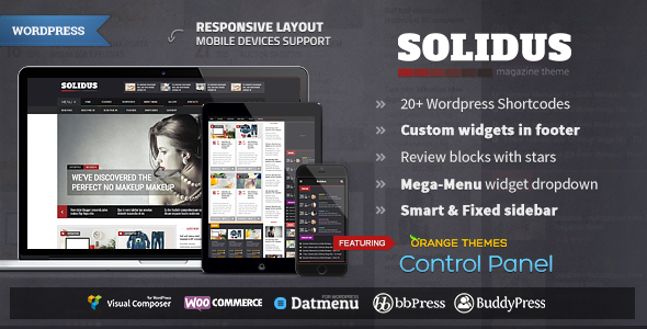 Solidus - Clean Magazine Theme - Blog / Magazine WordPress