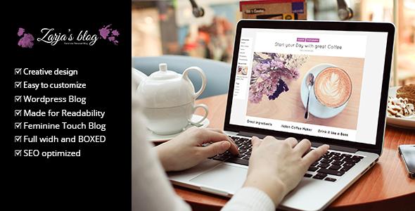 Zarja Blog -  WordPress Blog Theme - Personal Blog / Magazine