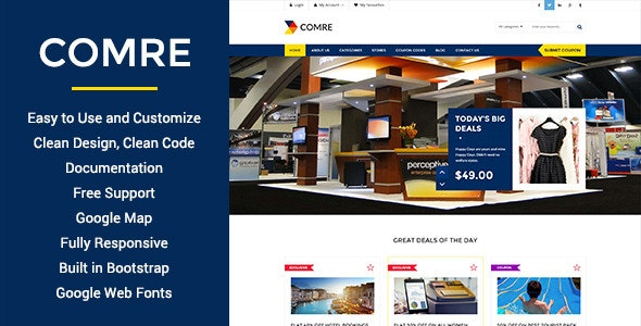 Comre - Coupon & Offers HTML Template - Shopping Retail