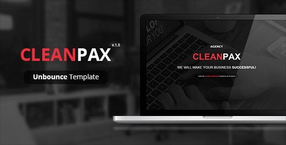 CleanPax - Unbounce Template - Unbounce Landing Pages Marketing