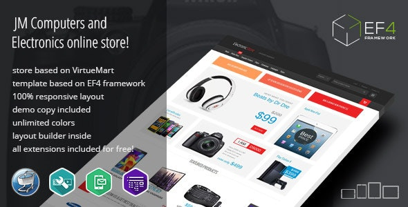Electronics - multipurpose VirtueMart online store by Joomla-Monster