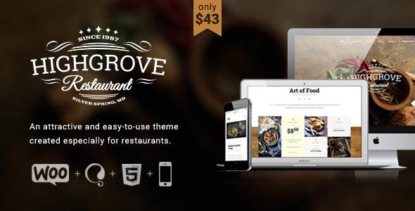 HG Restaurant - Responsive WordPress Theme - Restaurants & Cafes Entertainment