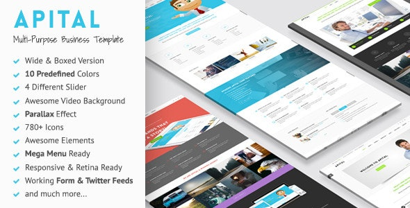 Apital - Multi-Purpose Business HTML5 Template - Business Corporate