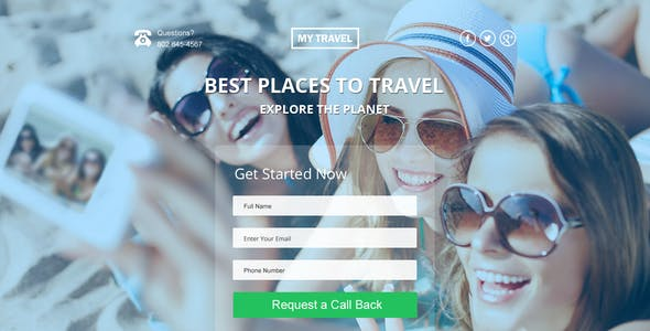 My Travel HTML5 Landing Page
