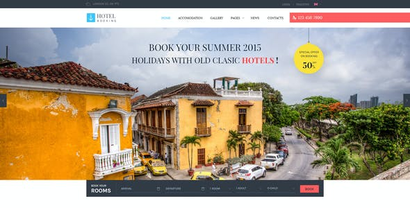 Hotel Booking - PSD Template