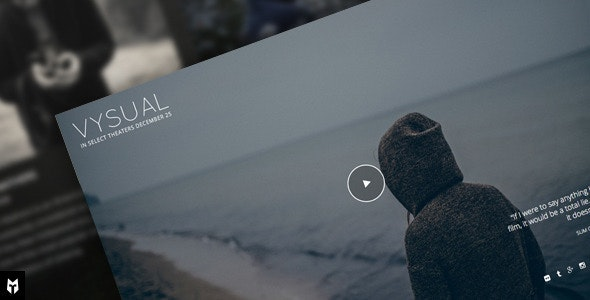 VYSUAL - Responsive Film Campaign WP Theme - Film & TV Entertainment