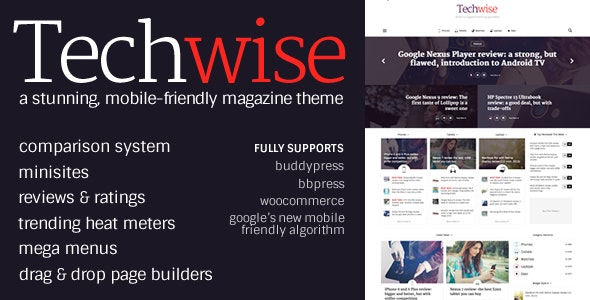 Techwise - Drag & Drop Magazine w/ Comparisons - Blog / Magazine WordPress