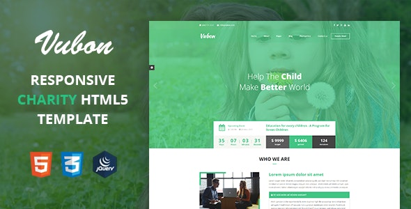 Vubon - Multipage Charity HTML Template - Charity Nonprofit
