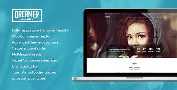 Dreamer - Multipurpose Charity WordPress Theme - Charity Nonprofit
