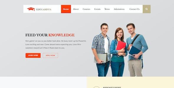 Educampus | Education/University PSD Template