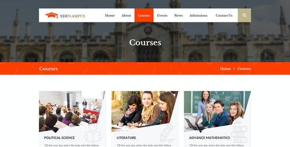 Educampus   Education/University PSD Template