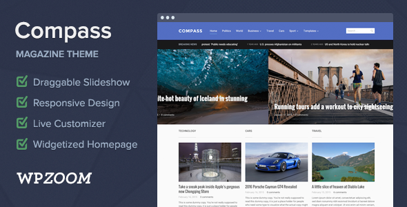Compass - Magazine Theme for WordPress  - News / Editorial Blog / Magazine