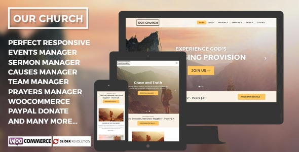 Our Church - Religious Churches WordPress Theme - Churches Nonprofit