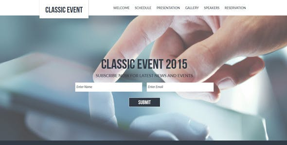 Classic Event Muse Template With Gumroad