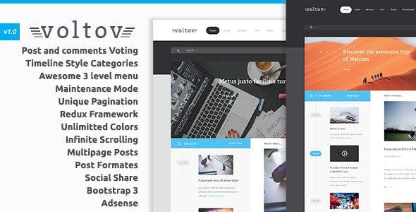 Voltov - Blog and Magazine WordPress Theme - Blog / Magazine WordPress