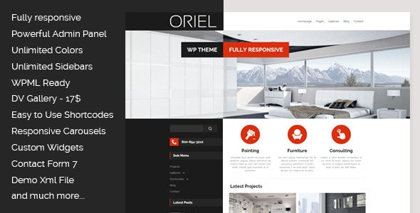 ORIEL - Responsive Interior Design WordPress Theme - Business Corporate