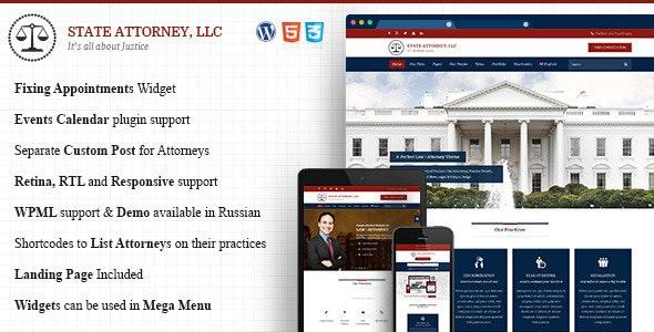Attorney - Law WordPress - Business Corporate