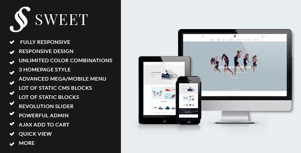 ARW Sweet - Minimalist responsive magento theme - Fashion Magento
