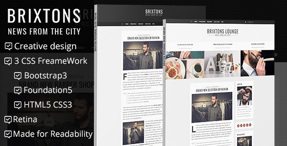 Brixton - Minimal & Personal HTML Blog Template - Personal Site Templates
