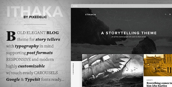 Ithaka Responsive WordPress Blog Theme - Personal Blog / Magazine