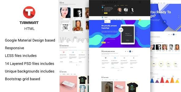 Tammat - Responsive Material Design HTML Template - Portfolio Creative