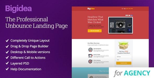 Bigidea - Unbounce Agency Template - Unbounce Landing Pages Marketing