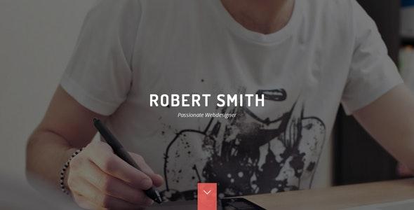 Robert Smith - Responsive Resume / CV WordPress Theme - Personal Blog / Magazine
