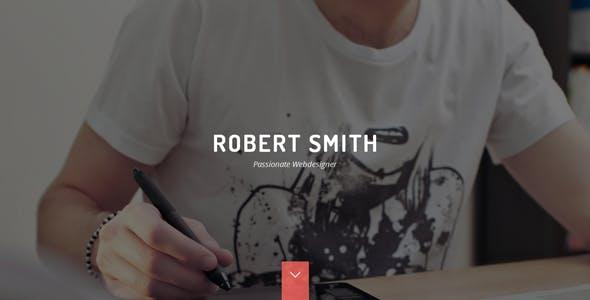 Robert Smith - Responsive Resume / CV WordPress Theme