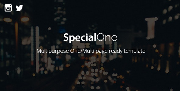 SpecialOne - Multipurpose One/Multi pages ready - Creative Site Templates