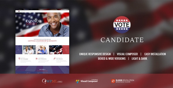 CANDIDATE | Political Campaign, Wordpress Theme - Political Nonprofit