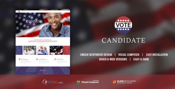 CANDIDATE | Political Campaign, Wordpress Theme
