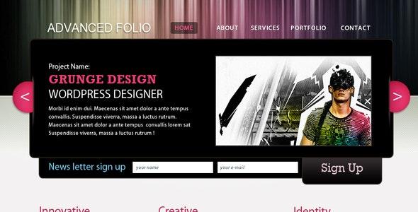 Advanced folio - Portfolio Creative