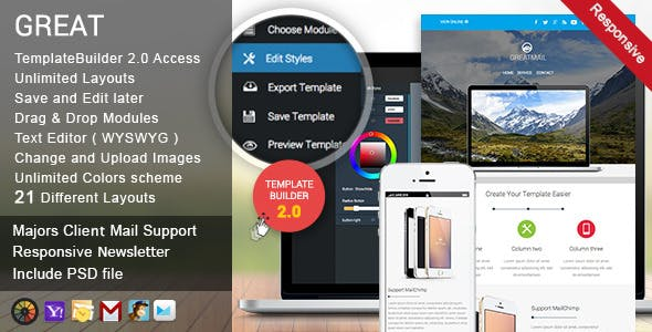 GreatMail - Responsive Email + TemplateBuilder