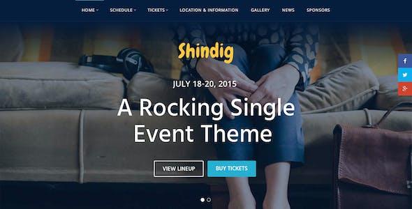 Shindig - A Rocking Single Event Theme
