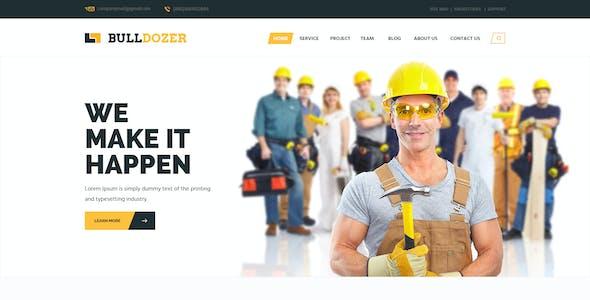 Bulldozer - Construction PSD Template