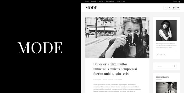 Mode | Fashion Blog Theme - Personal Blog / Magazine