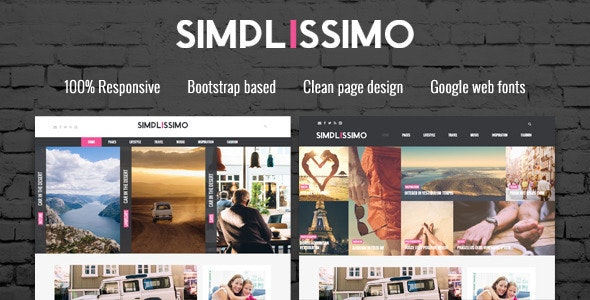 Simplissimo - Blog / Magazine WordPress Theme - Blog / Magazine WordPress
