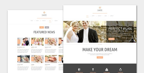 Elastic - Wedding WordPress Theme - Wedding WordPress