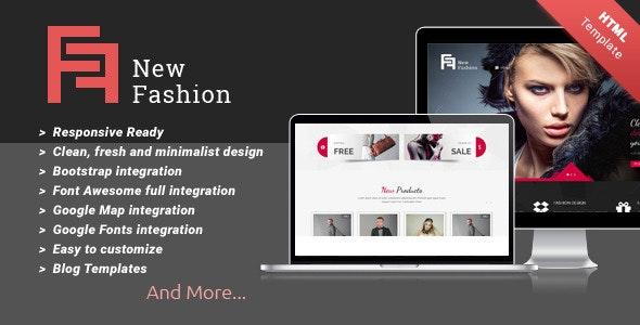New Fashion Multi-purpose HTML5 Templates - Corporate Site Templates