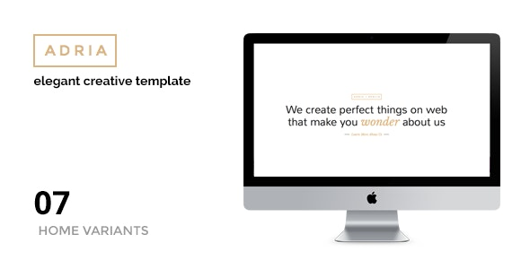 ADRIA - Minimal One Page Parallax Template - Portfolio Creative