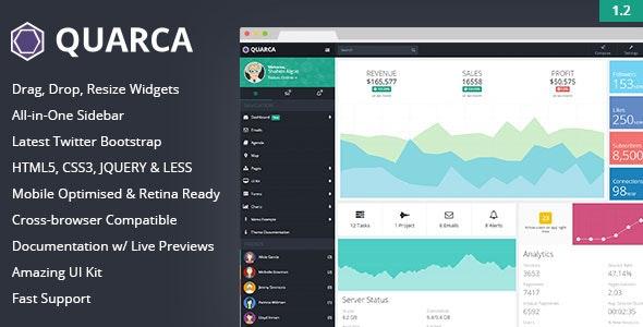 Quarca - Responsive Admin Dashboard Template - Admin Templates Site Templates