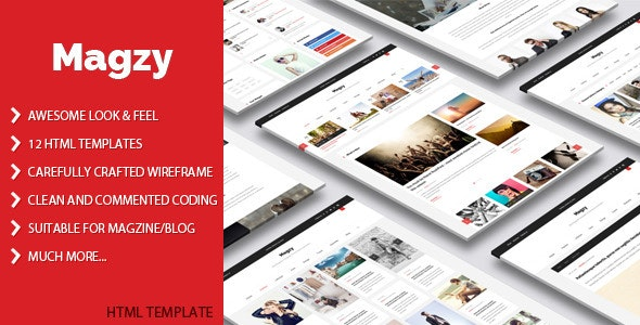Magzy - Clean Magazine HTML Template - Creative Site Templates