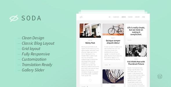 Soda — Clean Responsive Blog WordPress Theme - Personal Blog / Magazine
