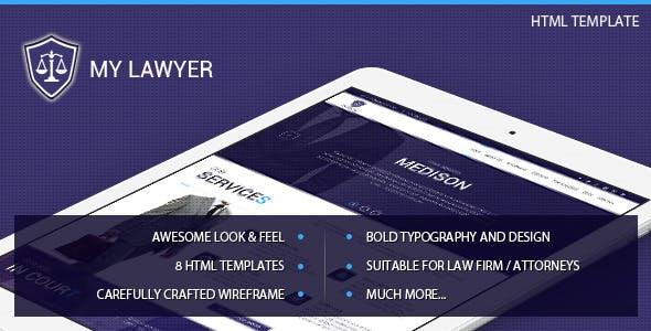 MyLawyer - Lawyer Attorney HTML Template