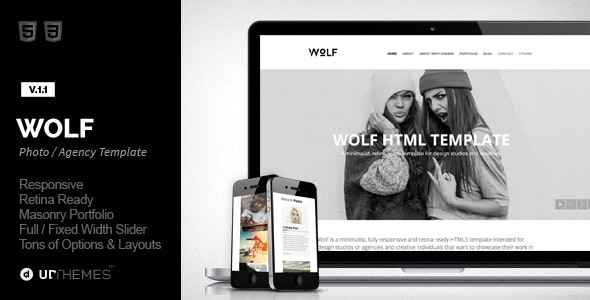 Wolf - Responsive Creative HTML5 Template - Creative Site Templates