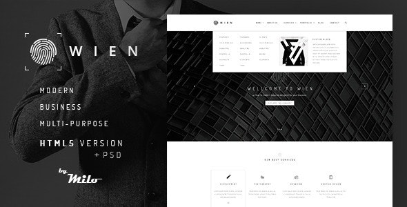 Wien – Modern Business Multi-Purpose HTML5 Website - Business Corporate