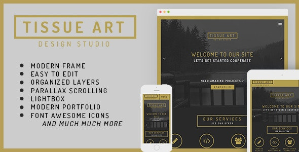 Tissue - One&Multi Page Modern Muse Theme - Creative Muse Templates