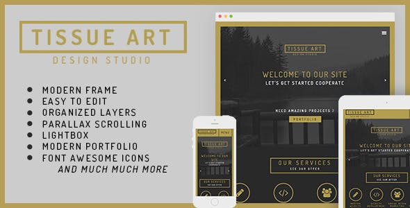 Tissue - One&Multi Page Modern Muse Theme