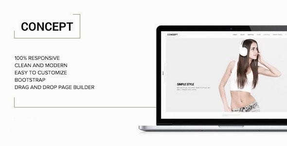 Concept - Minimal WordPress Portfolio Theme - Creative WordPress